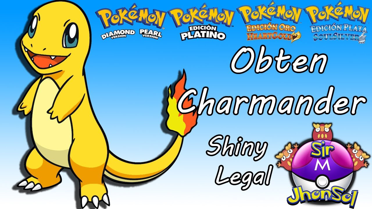 Obtener A Charmander Shiny Legal Pokemon Heart Gold Soul Silver Perla Platino Y Diamante