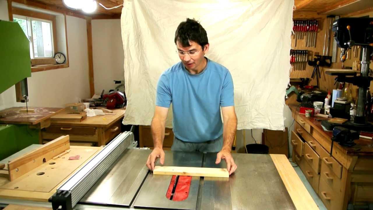 Table saw kickback experiments - YouTube