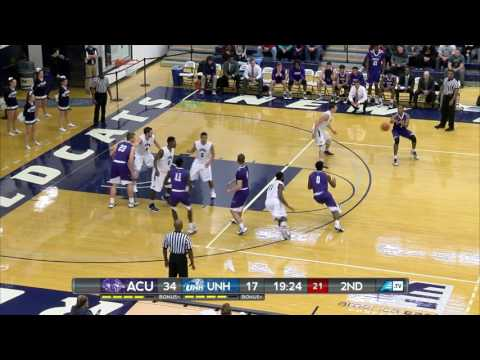 UNH Men's Basketball vs Abilene Christian University Highlights (11-17-16)