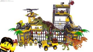 LEGO Dino Defense HQ from 2012 reviewed! set 5887