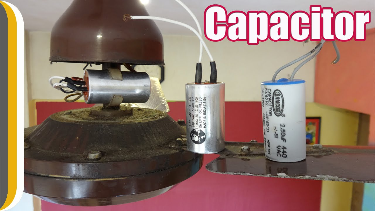 How to change a ceiling fan capacitor by ur for How to test a motor start capacitor