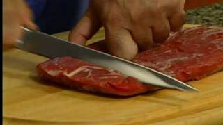 Cooking Club Of America | How To Cut Flank Steak | Andrew Zimmern