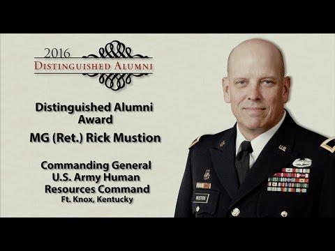 UCM Distinguished Alumni 2016 - MG (Ret.) Rick Mustion