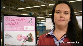 K-Supermarketit mukana Roosa nauha -kampanjassa 2017