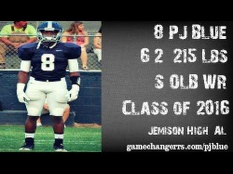 #8 P.J. Blue / S,OLB,WR / Jemison High (AL) Class of 2016