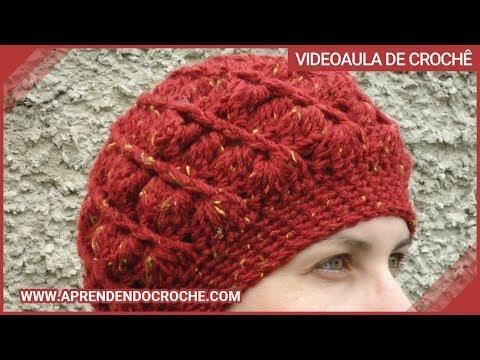 Boina de Croche Diva - 2º Parte - Aprendendo Crochê - YouTube 3e5dfd50bb0