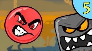 Несносный КРАСНЫЙ ШАР против чёрного квадрата #5. Мультик ИГРА для детей Red Ball 4 на Игрули TV