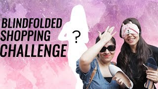 Blindfolded Shopping Challenge!!! **UNBELIEVABLE RESULTS** | #Vlogmas Day 6
