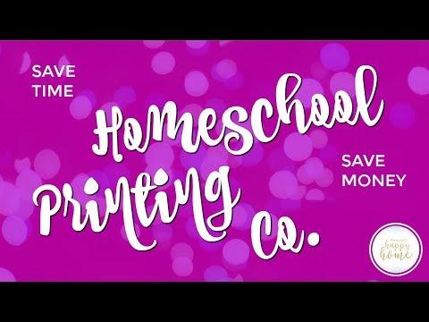 Homeschool Tip: How to Print School Stuff || HOMESCHOOL PRINTING COMPANY