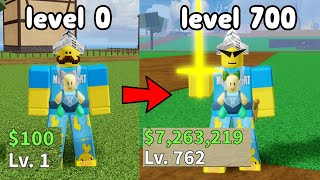 Starting Over As A Noob And Reached Level 700! - Blox Fruits Roblox