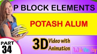 potash alum p block elements class 12 chemistry subject notes lectures cbse iitjee neet
