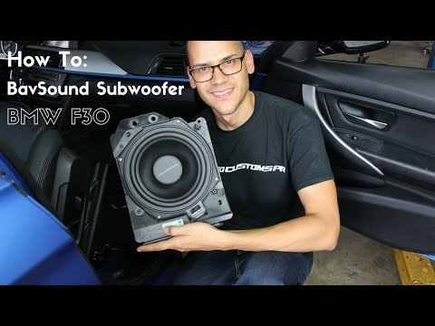 How to Install BavSound Under Seat Subwoofer - BMW F30
