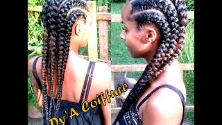 Tutorial : Invisible / Feeding cornrows (Straight back braids)