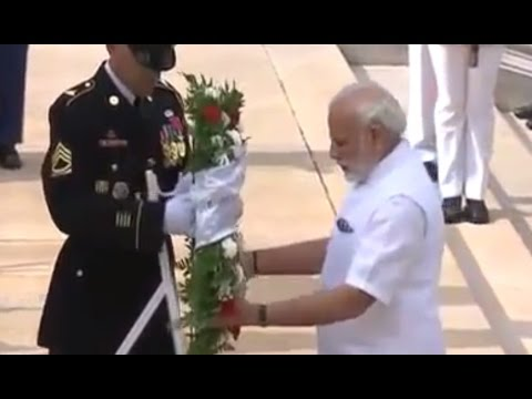 Modi in US: PM Modi lays wreath at the Space Shuttle Columbia Memorial in Washington DC