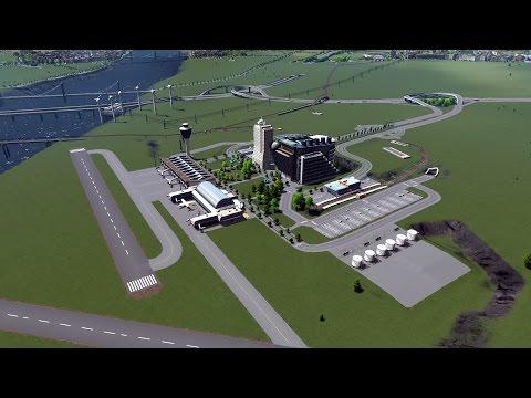 Cities Skylines Gameplay FR - Ville réaliste 17 - Finalisation aéroport international