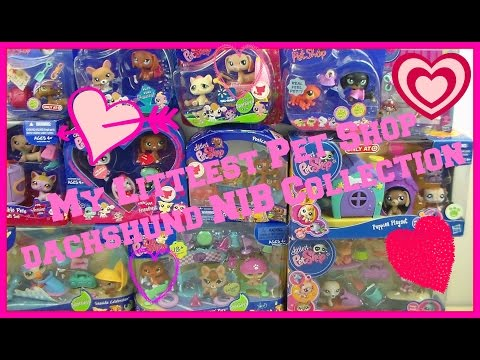 LPS World's Biggest Collection- Pinky's Littlest Pet Shop NIB Dachshunds