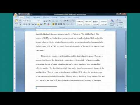 Inserting a Footnote in Word (Turabian Footnote-Bib. Style)