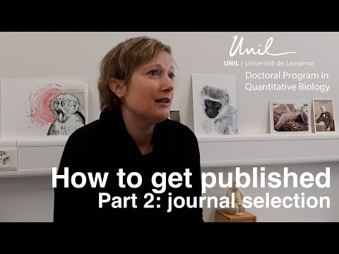 How to get your scientific paper published: the Journal Selection