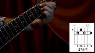 Как брать аккорд B7(H7) на гитаре