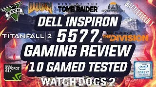 Dell Inspiron 5577 Gaming Laptop Review (2017) 10 Games Tested Nvidia Gtx 1050