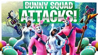 Les attaques de l'escouade des lapins! - Fortnite Easter Edition! - Nouveau plaisir de la peau de Pâques