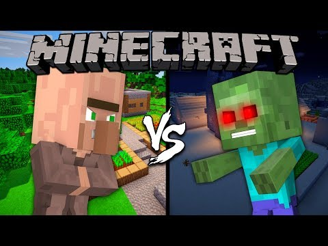 Baby Villager vs. Baby Zombie - Minecraft thumbnail