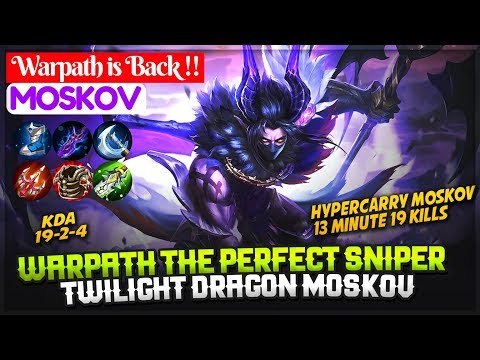 Warpath The Perfect Sniper, Twilight Dragon Moskov [ Top 1 Global S5 ] Warpath is Back !! Moskov