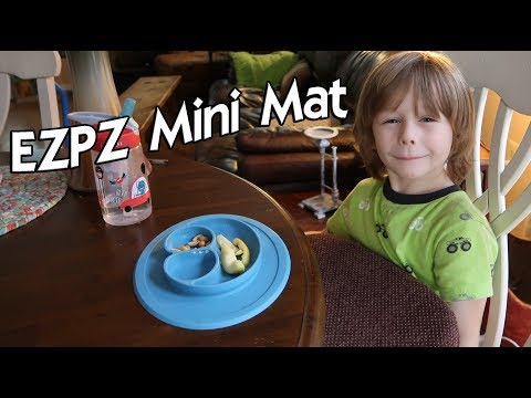 ⭐EZPZ Mini Mat  SHARK TANK PRODUCT 🍀 One Piece Silicone  Happy Mat Placemat & Plate 👈