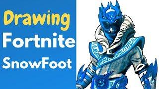 Fortnite Drawing | Snowfoot Skin