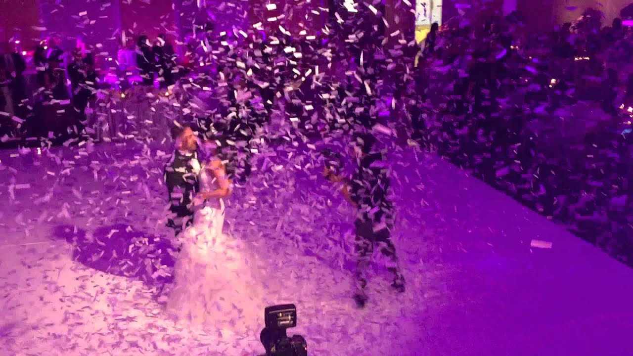 full confetti blast at wedding youtube