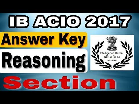 Reasoning answer key || IB ACIO 2017 ||