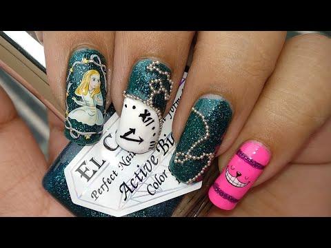 Alice In Wonderland Nail Art Tutorial!!