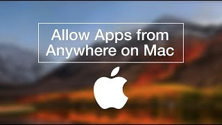 MacOS High Sierra   How to Allow Apps from Anywhere