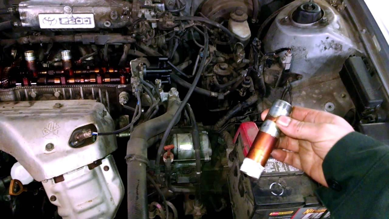 hight resolution of oil in spark plug tubes holes issue toyota camry 2 2l how to fix leak or change tubes youtube