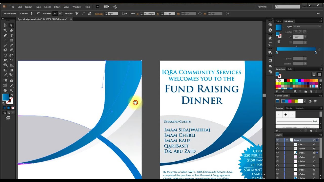 How to design Brochure follow other idea using illustrator CC 2014 ...