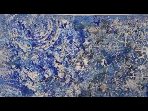DIY: Acrylbild Blau – Mit Acrylfarbe und Strukturpaste malen