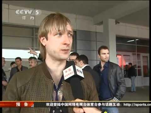 2011.4.27 CCTV Sports News Plushenko interview
