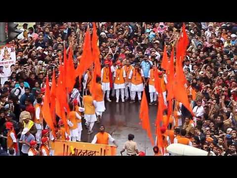 Making way for AMBULANCE during hindu festival ganesh visarjan, PUNE 2016