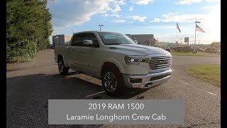 2019 RAM 1500 Laramie LongHorn Crew Cab 4X4|Walk Around Video|In Depth Review|Test Drive