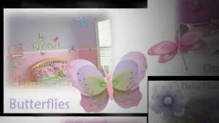 Butterfly Decor : Nursery Decorations : Hanging Butterflies : Wall Ceiling Ladybugs : Kids Room