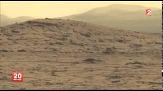 Images sensationnelles de la planète Mars transmises par Curiosity