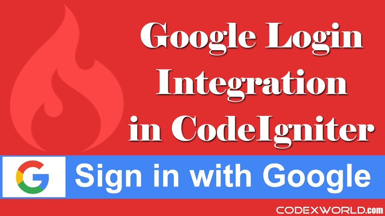 Login with Google OAuth API in CodeIgniter - YouTube