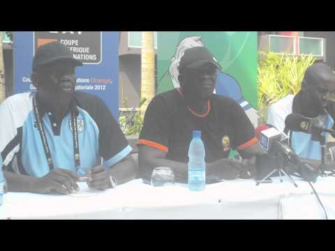 AFCON 2012: Botswana Team Press Conference
