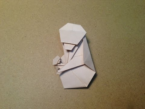 How to make an Origami Parent and Child Monkey