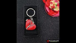 Heart Shape Photoframe Keychain With Mirror
