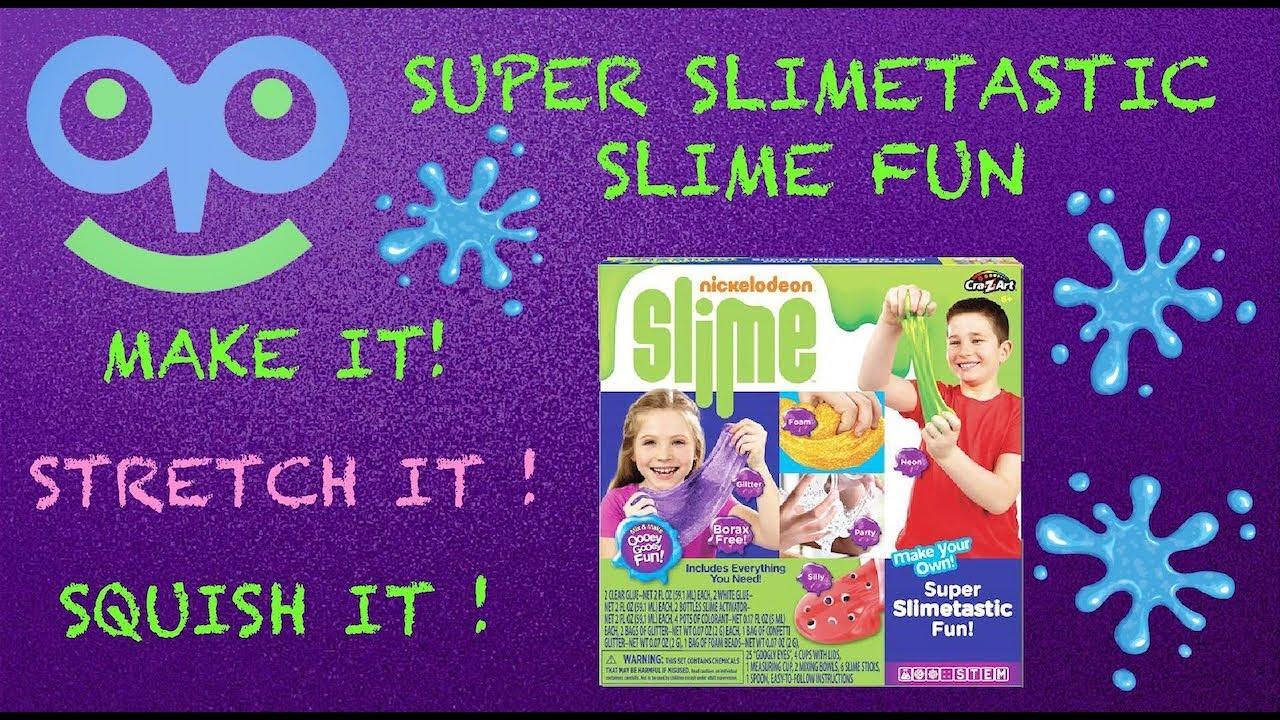 Making Super Slimetastic Slime with Nickelodeon Slime Making Kit