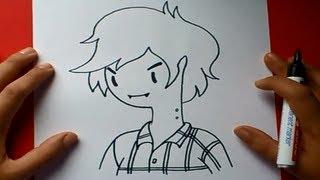 Como dibujar a Marshall Lee paso a paso - Hora de aventuras | How to draw Marshall Lee