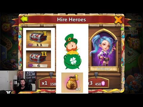 Rolling 50k For PIXIE And Medusa LETS GO Hero Collector Castle Clash