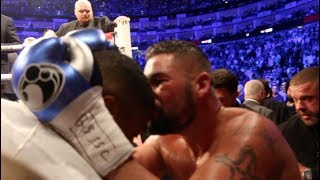 TONY BELLEW JUMPS STRAIGHT OUT OF THE RING AFTER BEATING DAVID HAYE TO KISS ANTHONY JOSHUA