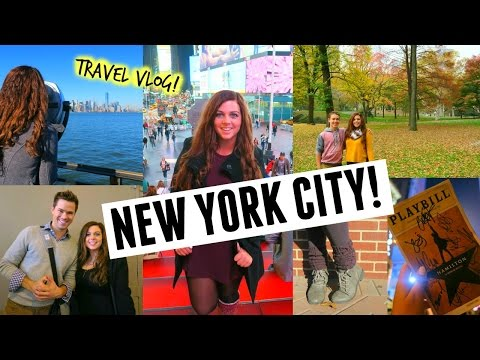 I'M IN NEW YORK CITY! + SEEING HAMILTON ON BROADWAY! (Travel Diary & Stagedoor Vlog)